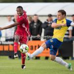 14-07-2017: Voetbal: SC Cambuur v Almere City FC: Leeuwarden (L-R) Arsenio Valpoort (Almere City FC), Robbert Schilder (SC Cambuur) Oefenduel 2017 / 2018