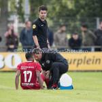 14-07-2017: Voetbal: SC Cambuur v Almere City FC: Leeuwarden (L-R) Arsenio Valpoort (Almere City FC), Leo de Wit - Fysiotherapeut (Almere City FC) Oefenduel 2017 / 2018