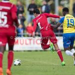 14-07-2017: Voetbal: SC Cambuur v Almere City FC: Leeuwarden (L-R) Faris Hammouti (Almere City FC), Nigel Robertha (SC Cambuur) Oefenduel 2017 / 2018