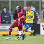 14-07-2017: Voetbal: SC Cambuur v Almere City FC: Leeuwarden (L-R)  Achille Vaarnold (Almere City FC), Nino van den Beemt (SC Cambuur) Oefenduel 2017 / 2018