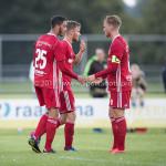 14-07-2017: Voetbal: SC Cambuur v Almere City FC: Leeuwarden (L-R) Khalid Tadmine (Almere City FC), Adriaan Kruisheer (Almere City FC), Jeffrey Rijsdijk (Almere City FC) Oefenduel 2017 / 2018