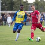 14-07-2017: Voetbal: SC Cambuur v Almere City FC: Leeuwarden (L-R) Ibrahim Toure (SC Cambuur), Silvester van de Water (Almere City FC) Oefenduel 2017 / 2018