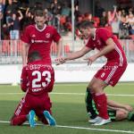 20-07-2017: Voetbal: SC  Almere City FC v Granada CF: Almere (L-R) Achille Vaarnold (Almere City FC), Erik Quekel (Almere City FC), Sven Braken (Almere City FC) Oefenduel 2017 / 2018
