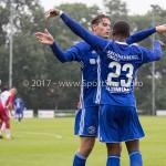 08-08-2017: Voetbal: Jong FC Utrecht v Almere City FC: Utrecht (L-R) Sven Braken (Almere City FC), Achille Vaarnold (Almere City FC) Oefenduel 2017 / 2018