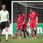 11-08-2017: Voetbal: Go Ahead Eagles v Almere City FC: Zeist (L-R) Jerge Hoefdraad (Almere City FC), Achille Vaarnold (Almere City FC), Sven Braken (Almere City FC) Oefenduel 2017 / 2018