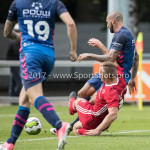 11-08-2017: Voetbal: Go Ahead Eagles v Almere City FC: Zeist (L-R) Damon Mirani (Almere City FC), Joey Suk (Go Ahead Eagles) Oefenduel 2017 / 2018