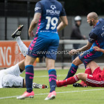11-08-2017: Voetbal: Go Ahead Eagles v Almere City FC: Zeist (L-R) Chiel Kramer (Almere City FC), Joey Suk (Go Ahead Eagles),  Damon Mirani (Almere City FC) Oefenduel 2017 / 2018