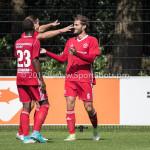 11-08-2017: Voetbal: Go Ahead Eagles v Almere City FC: Zeist (L-R) Achille Vaarnold (Almere City FC), Sven Braken (Almere City FC), Javier Vet (Almere City FC) Oefenduel 2017 / 2018