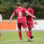 11-08-2017: Voetbal: Go Ahead Eagles v Almere City FC: Zeist (L-R) Sven Braken (Almere City FC), Leeroy Owusu (Almere City FC) Oefenduel 2017 / 2018