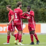 11-08-2017: Voetbal: Go Ahead Eagles v Almere City FC: Zeist (L-R) Sven Braken (Almere City FC), Javier Vet (Almere City FC), Leeroy Owusu (Almere City FC) Oefenduel 2017 / 2018