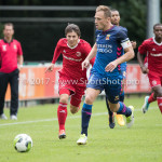 11-08-2017: Voetbal: Go Ahead Eagles v Almere City FC: Zeist (L-R) Charlie Telfer (Almere City FC), Xandro Schenk (Go Ahead Eagles) Oefenduel 2017 / 2018