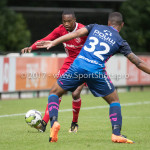 11-08-2017: Voetbal: Go Ahead Eagles v Almere City FC: Zeist (L-R) Arsenio Valpoort (Almere City FC), Joey Groenbast (Go Ahead Eagles) Oefenduel 2017 / 2018