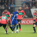18-08-2017: Voetbal: NEC v Almere City FC: Nijmegen (L-R) Wojciech Golla (NEC), Tom Overtoom (Almere City FC), Gregor Breinburg (NEC) Jupiler League 2017 / 2018