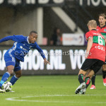 18-08-2017: Voetbal: NEC v Almere City FC: Nijmegen (L-R) Arsenio Valpoort (Almere City FC), Mart Dijkstra (NEC) Jupiler League 2017 / 2018