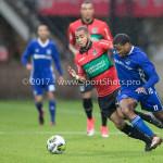 18-08-2017: Voetbal: NEC v Almere City FC: Nijmegen (L-R) Gregor Breinburg (NEC), Jerge Hoefdraad (Almere City FC) Jupiler League 2017 / 2018