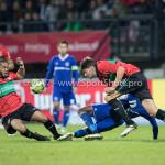 18-08-2017: Voetbal: NEC v Almere City FC: Nijmegen (L-R) Gregor Breinburg (NEC), Arsenio Valpoort (Almere City FC),Ted van de Pavert (NEC) Jupiler League 2017 / 2018