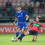 18-08-2017: Voetbal: NEC v Almere City FC: Nijmegen (L-R) Damon Mirani (Almere City FC), Joey Sleegers (NEC) Jupiler League 2017 / 2018