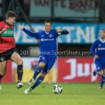 18-08-2017: Voetbal: NEC v Almere City FC: Nijmegen (L-R) Ted van de Pavert (NEC), Tom Overtoom (Almere City FC) Jupiler League 2017 / 2018