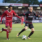 08-09-2017: Voetbal: Almere City FC v Helmond Sport: Almere (L-R) Ezra Walian (Almere City FC), Jason Bourdouxhe (Helmond Sport) Jupiler League 2017 / 2018