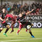 08-09-2017: Voetbal: Almere City FC v Helmond Sport: Almere (L-R) Arsenio Valpoort (Almere City FC), Jeroen Verkennis (Helmond Sport) Jupiler League 2017 / 2018