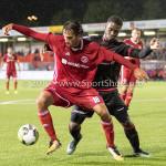 08-09-2017: Voetbal: Almere City FC v Helmond Sport: Almere (L-R) Ezra Walian (Almere City FC), Maiky Fecunda (Helmond Sport) Jupiler League 2017 / 2018