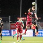 08-09-2017: Voetbal: Almere City FC v Helmond Sport: Almere (L-R) Ezra Walian (Almere City FC), Stephen Warmolts (Helmond Sport) Jupiler League 2017 / 2018