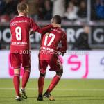 08-09-2017: Voetbal: Almere City FC v Helmond Sport: Almere (L-R) Jeffrey Rijsdijk (Almere City FC), Arsenio Valpoort (Almere City FC) Jupiler League 2017 / 2018