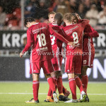 08-09-2017: Voetbal: Almere City FC v Helmond Sport: Almere (L-R) Ezra Walian (Almere City FC), Jeffrey Rijsdijk (Almere City FC), Arsenio Valpoort (Almere City FC) Jupiler League 2017 / 2018