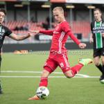 09-09-2017: Voetbal: Jong Almere City FC v Scheveningen: Almere (L-R) Jari de Jong (SVV Scheveningen), Silvester van der Water (Jong Almere City FC) 3de divisie zaterdag 2017 / 2018