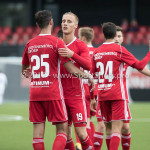 09-09-2017: Voetbal: Jong Almere City FC v Scheveningen: Almere (L-R) Khalid Tadmine (Jong Almere City FC), Silvester van der Water (Jong Almere City FC) 3de divisie zaterdag 2017 / 2018