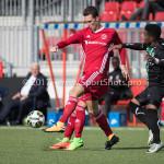09-09-2017: Voetbal: Jong Almere City FC v Scheveningen: Almere (L-R) Dennis van der Heijden (Jong Almere City FC), Gio van Ree (SVV Scheveningen) 3de divisie zaterdag 2017 / 2018