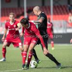09-09-2017: Voetbal: Jong Almere City FC v Scheveningen: Almere (L-R) Anass Ahannach (Jong Almere City FC), Ruben Koorndijk (SVV Scheveningen) 3de divisie zaterdag 2017 / 2018