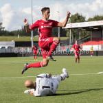 09-09-2017: Voetbal: Jong Almere City FC v Scheveningen: Almere (L-R) Jesper Leerdam (SVV Scheveningen), Khalid Tadmine (Jong Almere City FC) 3de divisie zaterdag 2017 / 2018