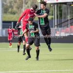 09-09-2017: Voetbal: Jong Almere City FC v Scheveningen: Almere (L-R) alm23, Jari de Jong (SVV Scheveningen) 3de divisie zaterdag 2017 / 2018