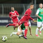 15-09-2017: Voetbal: FC Dordrecht v Almere City FC: Dordrecht (L-R) Gaston Salasiwa (Almere City FC), Danny Bakker (FC Dordrecht) Jupiler League 2017 / 2018