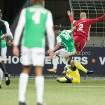 15-09-2017: Voetbal: FC Dordrecht v Almere City FC: Dordrecht (L-R) Andreias Calcan (FC Dordrecht), Chiel Kramer (Almere City FC), Kees van Buuren (Almere City FC) Jupiler League 2017 / 2018
