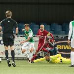15-09-2017: Voetbal: FC Dordrecht v Almere City FC: Dordrecht (L-R) Andreias Calcan (FC Dordrecht), Kees van Buuren (Almere City FC), Chiel Kramer (Almere City FC) Jupiler League 2017 / 2018