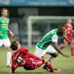 15-09-2017: Voetbal: FC Dordrecht v Almere City FC: Dordrecht (L-R) Ezra Walian (Almere City FC), Cendrino Misidjan (FC Dordrecht) Jupiler League 2017 / 2018