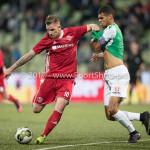 15-09-2017: Voetbal: FC Dordrecht v Almere City FC: Dordrecht (L-R) Kevin Brands (Almere City FC), Mawouna Amevor (FC Dordrecht) Jupiler League 2017 / 2018