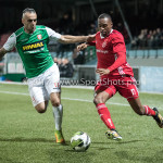 15-09-2017: Voetbal: FC Dordrecht v Almere City FC: Dordrecht (L-R) Antonio Stankov (FC Dordrecht), Arsenio Valpoort (Almere City FC) Jupiler League 2017 / 2018