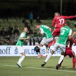 15-09-2017: Voetbal: FC Dordrecht v Almere City FC: Dordrecht (L-R) Jordy Vleugels (FC Dordrecht), Arsenio Valpoort (Almere City FC), Antonio Stankov (FC Dordrecht), Damon Mirani (Almere City FC) Jupiler League 2017 / 2018