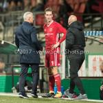 15-09-2017: Voetbal: FC Dordrecht v Almere City FC: Dordrecht (L-R)Jack de Gier - Technisch manager/Hoofdtrainer (Almere City FC), Dennis van der Heijden (Almere City FC), Dennis van der Heijden (Almere City FC) Jupiler League 2017 / 2018