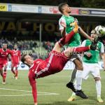 15-09-2017: Voetbal: FC Dordrecht v Almere City FC: Dordrecht (L-R) Dennis van der Heijden (Almere City FC), Mawouna Amevor (FC Dordrecht) Jupiler League 2017 / 2018