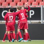 16-09-2017: Voetbal: Almere City FC O19 v AFC O19: Almere (L-R) Bernardo dos Santos Monteiro (Almere City FC O19), Tristan Buis (Almere City FC O19),Jelle Goselink (Almere City FC O19) Seizoen 2017 / 2018
