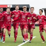 16-09-2017: Voetbal: Almere City FC O19 v AFC O19: Almere (L-R) Guiliano With (Almere City FC O19), Jesper Vos (Almere City FC O19), Mitch Willems (Almere City FC O19), Jelle Goselink (Almere City FC O19), Huib van Eijnsbergen (Almere City FC O19), Bernardo dos Santos Monteiro (Almere City FC O19) Seizoen 2017 / 2018