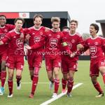 16-09-2017: Voetbal: Almere City FC O19 v AFC O19: Almere (L-R) Guiliano With (Almere City FC O19), Jesper Vos (Almere City FC O19), Mitch Willems (Almere City FC O19), Jelle Goselink (Almere City FC O19), Huib van Eijnsbergen (Almere City FC O19), Bernardo dos Santos Monteiro (Almere City FC O19), Miguel Ramdas (Almere City FC O19) Seizoen 2017 / 2018