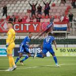 19-09-2017: Voetbal: FC Oss v Almere City FC: Oss (L-R) Ronald Koeman (FC Oss), Arsenio Valpoort (Almere City FC), Leeroy Owusu (Almere City FC) Jupiler League 2017 / 2018