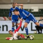 19-09-2017: Voetbal: FC Oss v Almere City FC: Oss (L-R) Daan Klomp (FC Oss), Josef Kvída (Almere City FC) Jupiler League 2017 / 2018