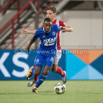 19-09-2017: Voetbal: FC Oss v Almere City FC: Oss (L-R) Achille Vaarnold (Almere City FC), Dean van der Sluys (FC Oss) Jupiler League 2017 / 2018