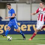 19-09-2017: Voetbal: FC Oss v Almere City FC: Oss (L-R) Khalid Tadmine (Almere City FC), Rick Stuy van de Herik (FC Oss) Jupiler League 2017 / 2018